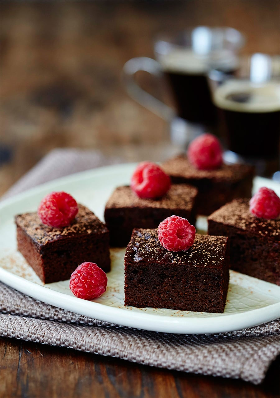 Paleo Chocolate Raspberry Brownies