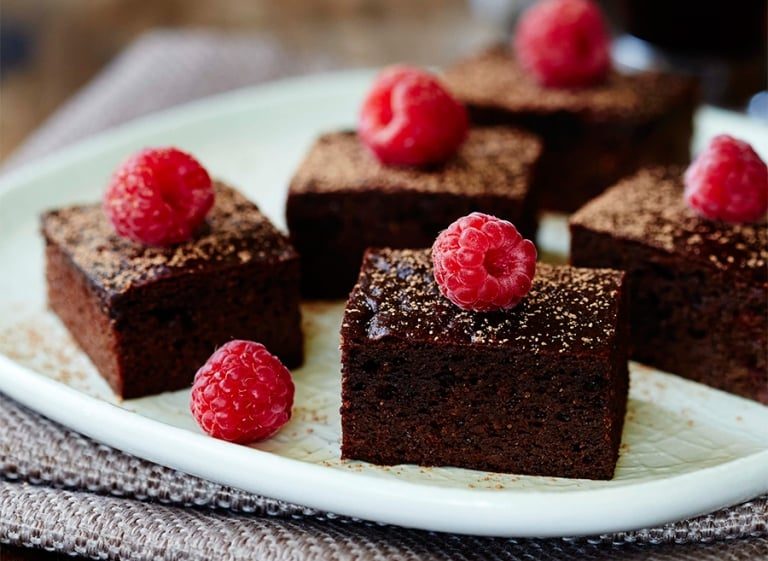 Chocolate Raspberry Brownies (Paleo & Gluten Free)