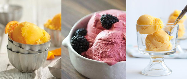sorbets and vegan ice creams with Vitamix