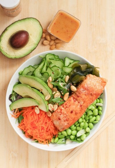 Sea goddess salad bowl