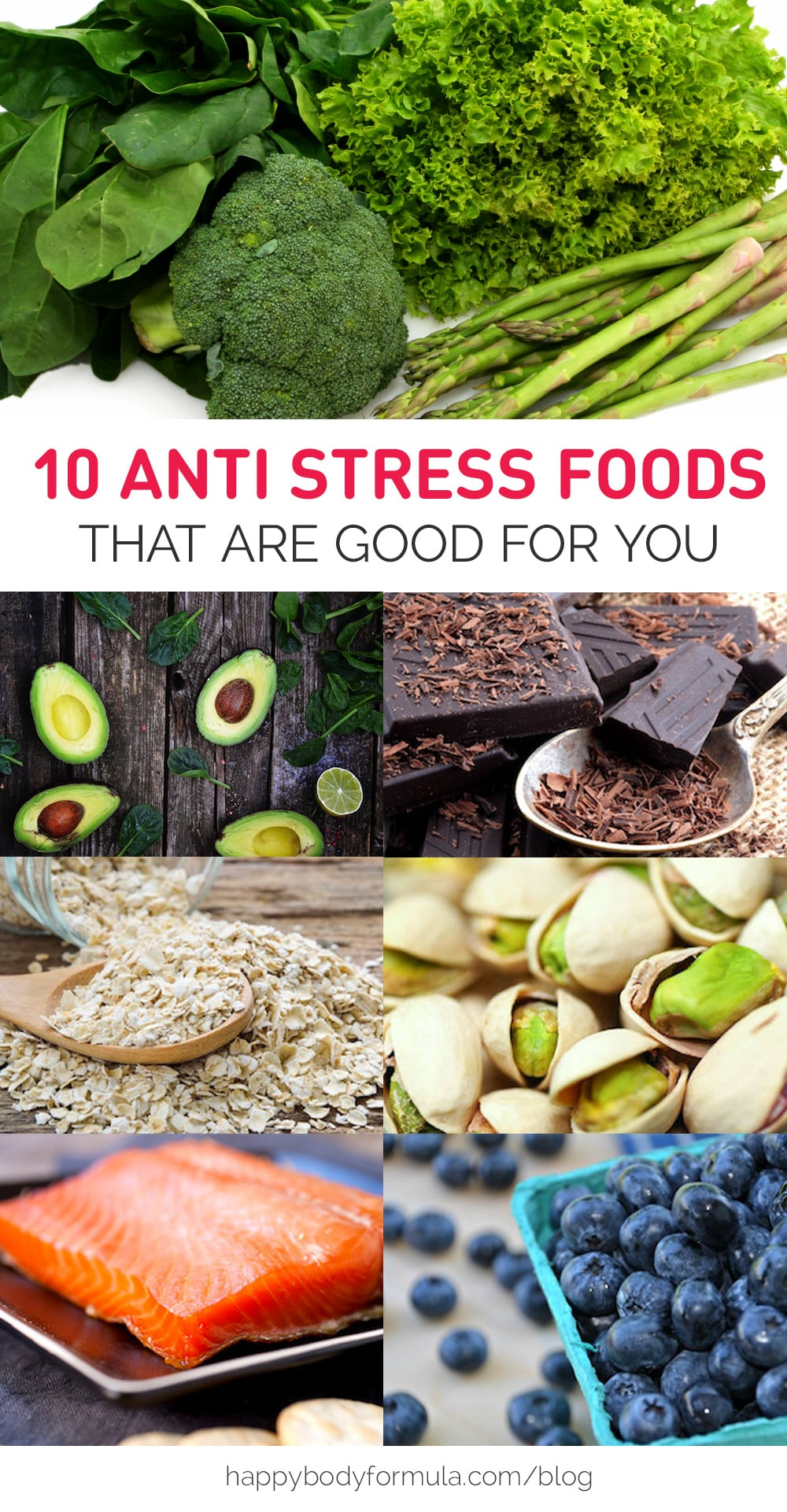 10 Anti Stress Foods That Are Good For You | HappyBodyFormula.com