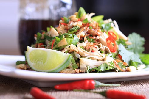 Spicy jackfruit salad recipe