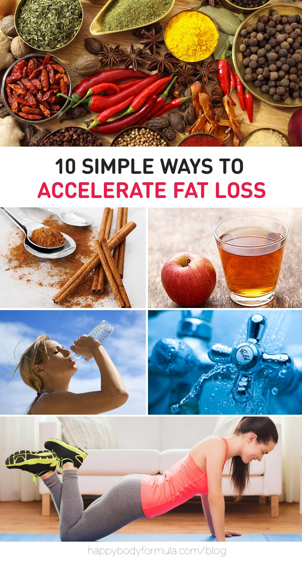 10 Simple Ways To Accelerate Fat Loss | Happybodyformula.com