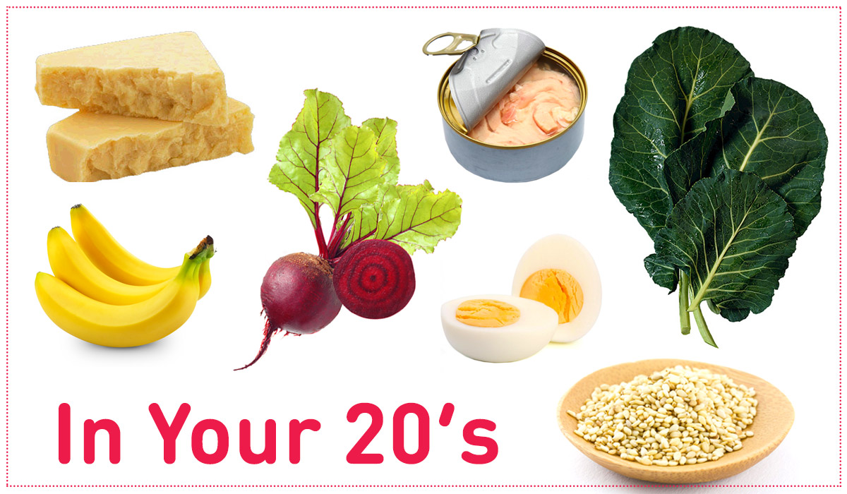 Best foods to eat in your 20's