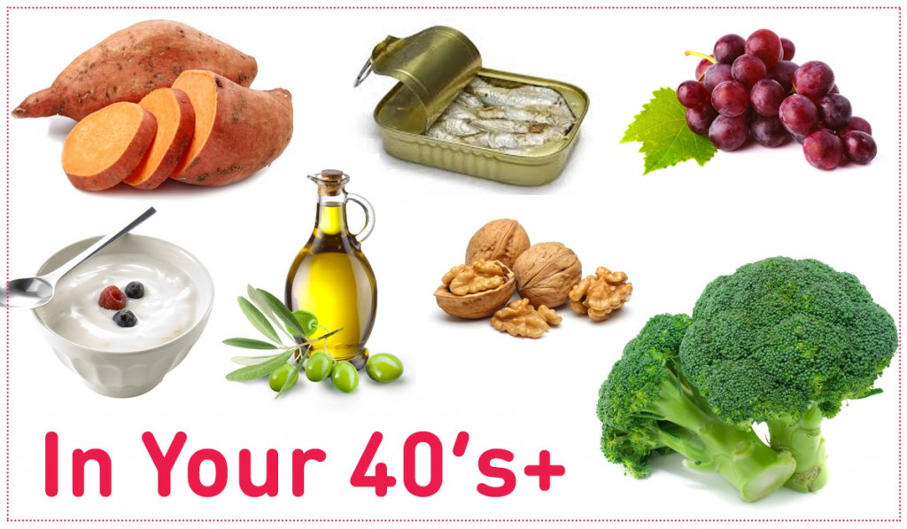 Best foods to eat in your 40's