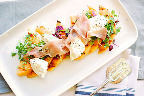summer recipes peach salad