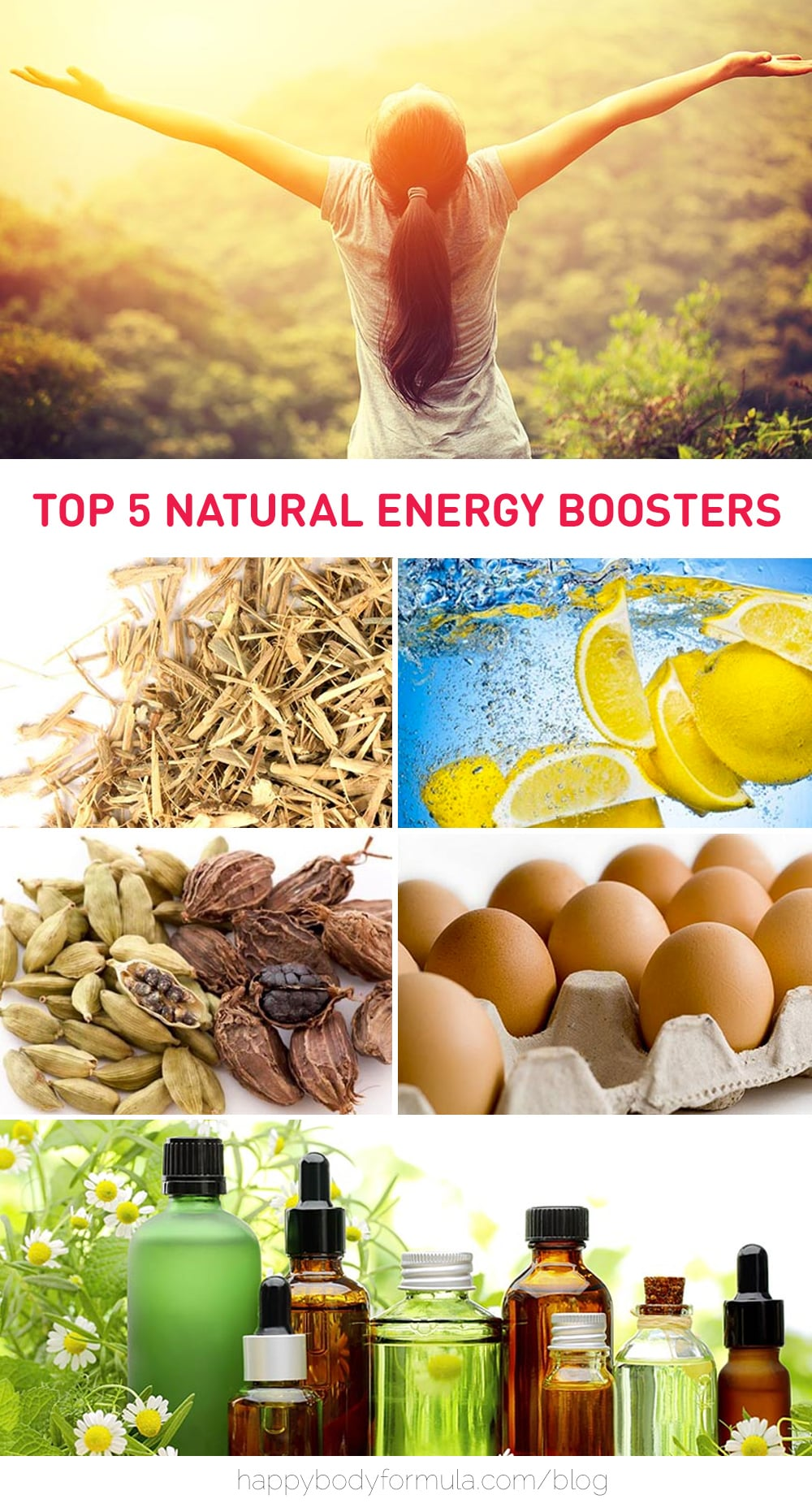 5 Natural Energy Boosters to Keep You Buzzing Throughout the Day | Happybodyformula.com