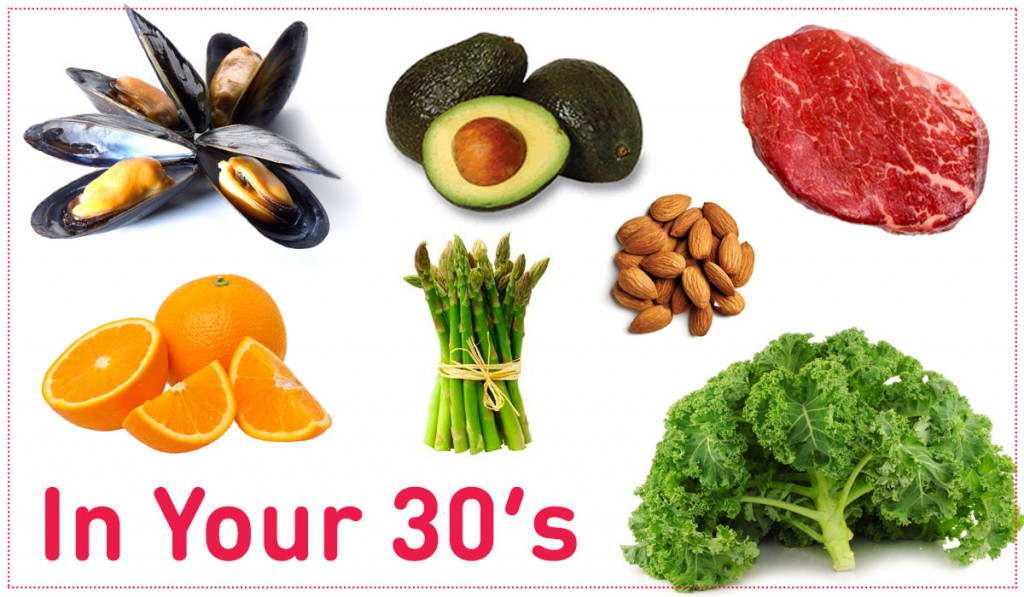Best foods to eat in your 30's