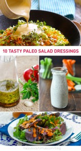 10 Delicious Paleo Salad Dressings - for any occasion.
