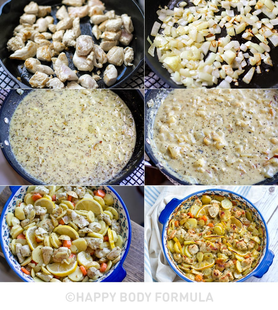 paleo chicken casserole lemon potato making