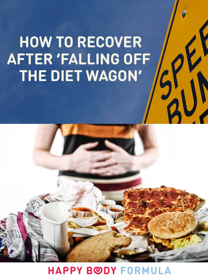 So you feel like you 'fell off the wagon'? Here is what to do to recover and get back on track of your health and wellness journey.