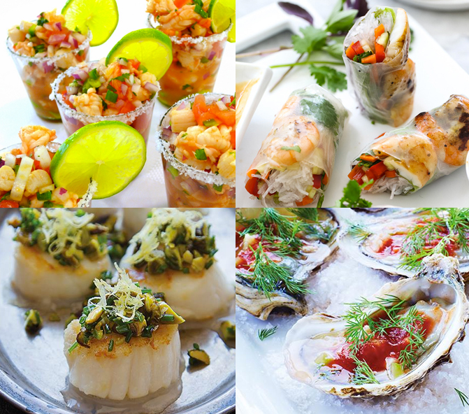 Fish & Seafood Canapes Finger Food