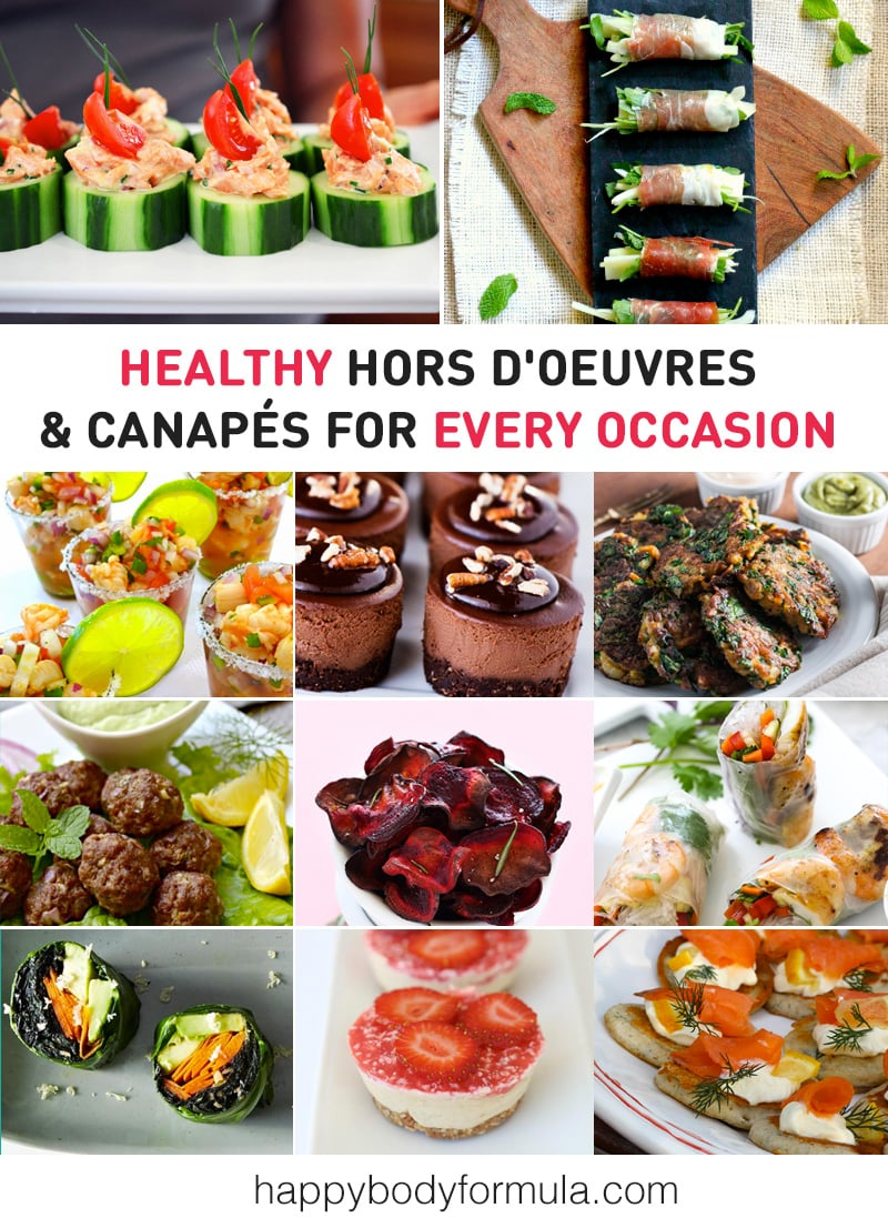 Healthy Hors D'oeuvres, Canapes & Finger Food Ideas