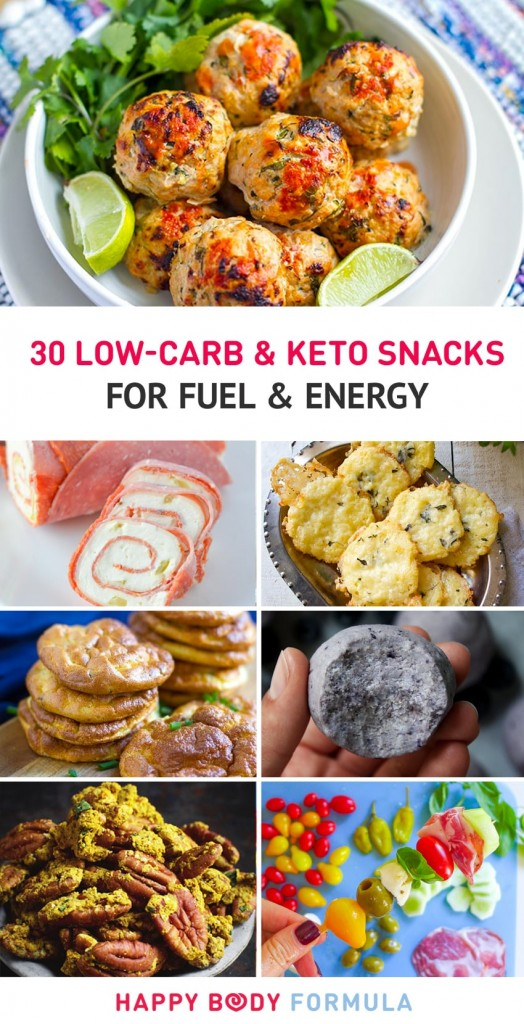 30 Low-Carb & Keto Snack For Fuel and Energy