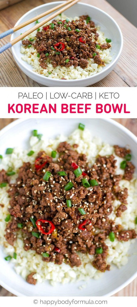 Korean Beef Bowl (Paleo, Keto, Low-Carb)