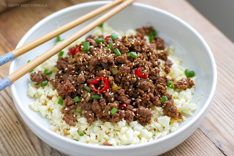 Korean Beef Bowl (Low-Carb, Keto, Paleo, Gluten-free)
