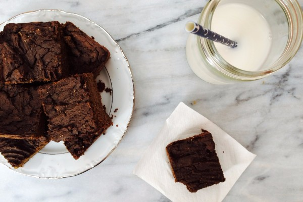 Vegan protein chocolate brownies