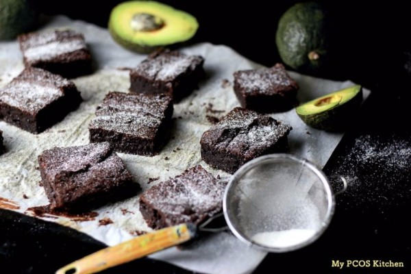 avocado chocolate brownies - keto and low-carb from my pcos kitchen