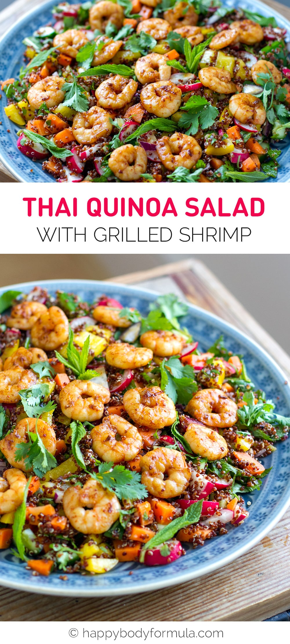 Thai Quinoa Salad With Grilled Shrimp