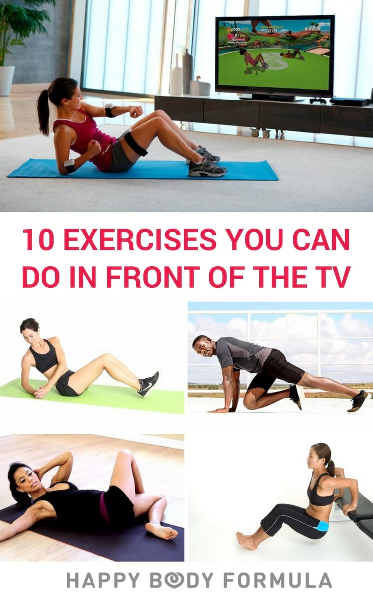10 Bodyweight Exercises You Can Do In Front of the TV at Home - No Equipment Required