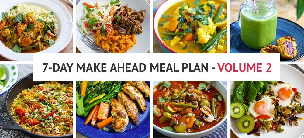 7-Day Make Ahead Meal Plan Volume 2