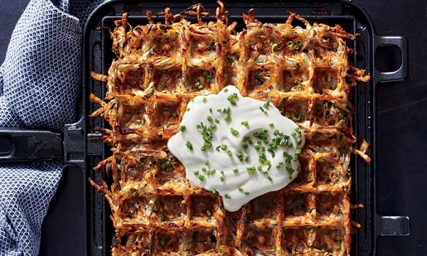 Get creative with waffle iron for breakfast
