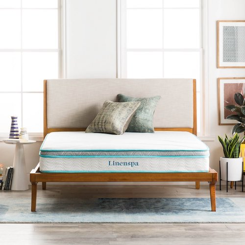 LinenSpa Memory Foam and Innerspring Hybrid Mattress