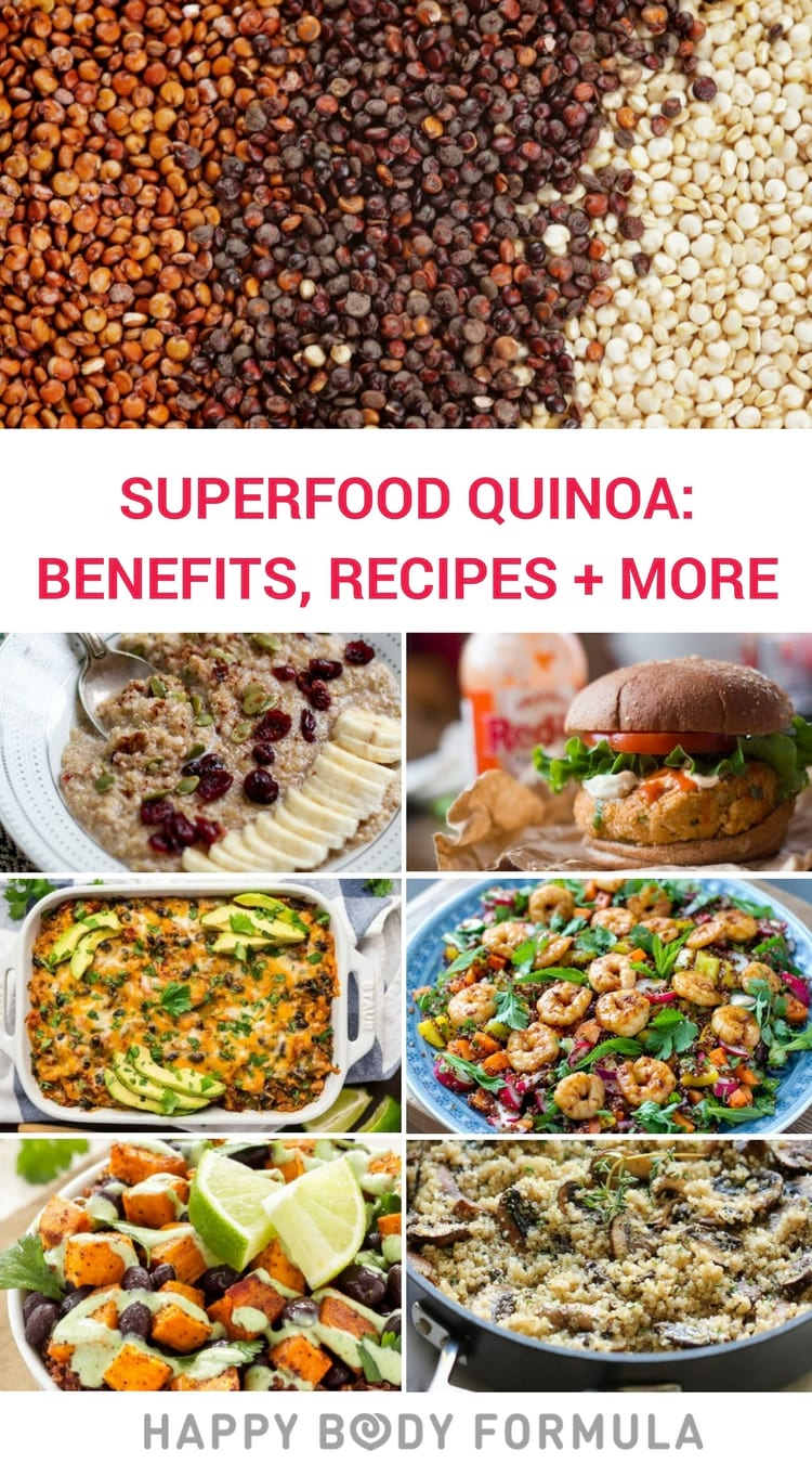 10 Quinoa Benefits Along with 10 Bonus Quinoa Recipes | Happybodyformula.com