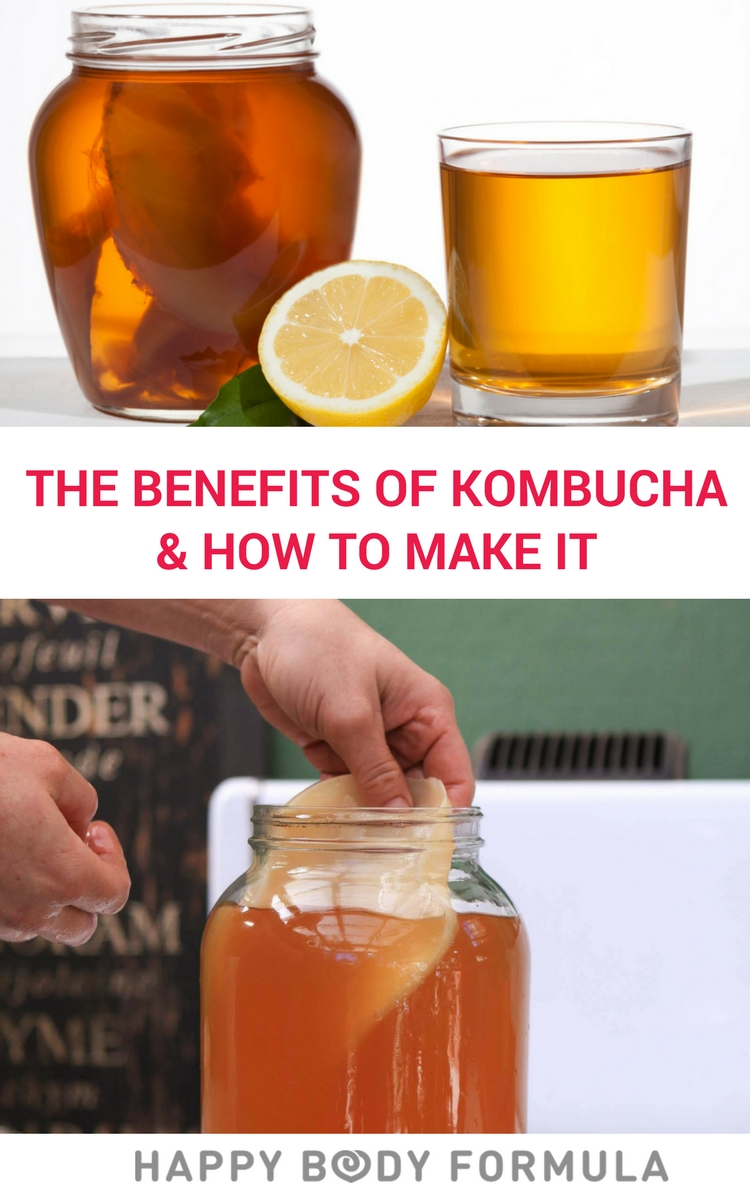 The Benefits Of Kombucha for Gut Health, Digestion, Candida & More + Homemade Kombucha Recipe | Happybodyformula.com