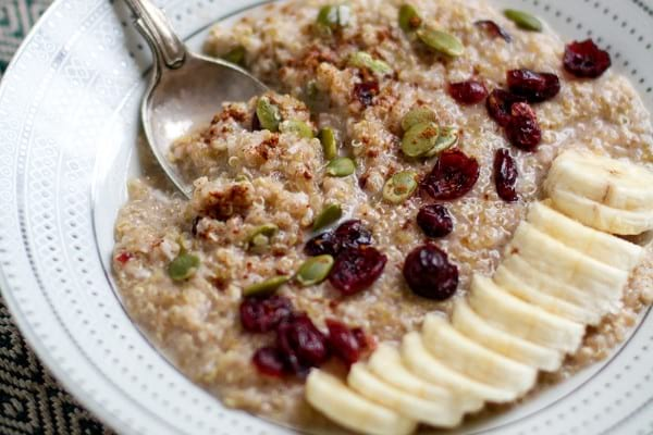 Spiced quinoa coconut porridge