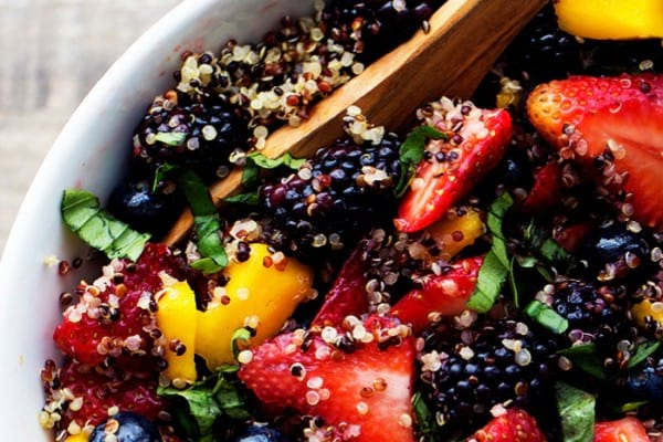 Honey-lime quinoa fruit salad