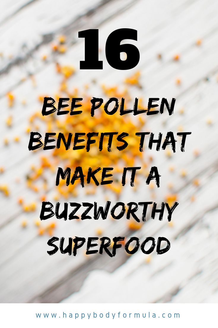 Learn why bee pollen is a superfood that you've been missing out on and how it can benefit your health | HappyBodyFormula.com
