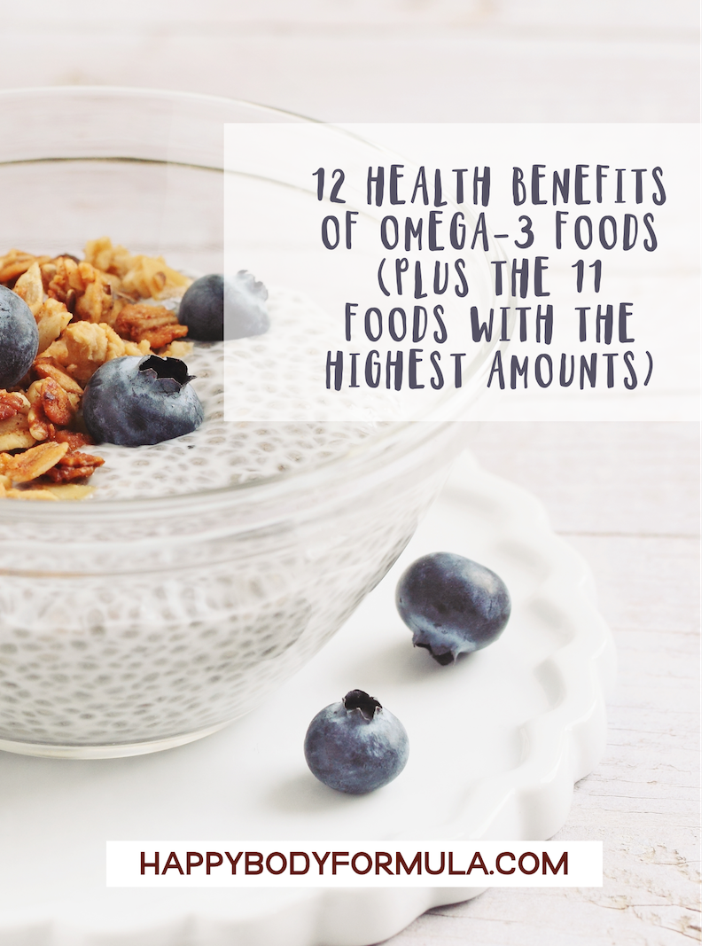 12 Health Benefits of Omega 3 Foods | HappyBodyFormula.com