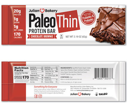 Julian Bakery Primal Thin Protein Bar