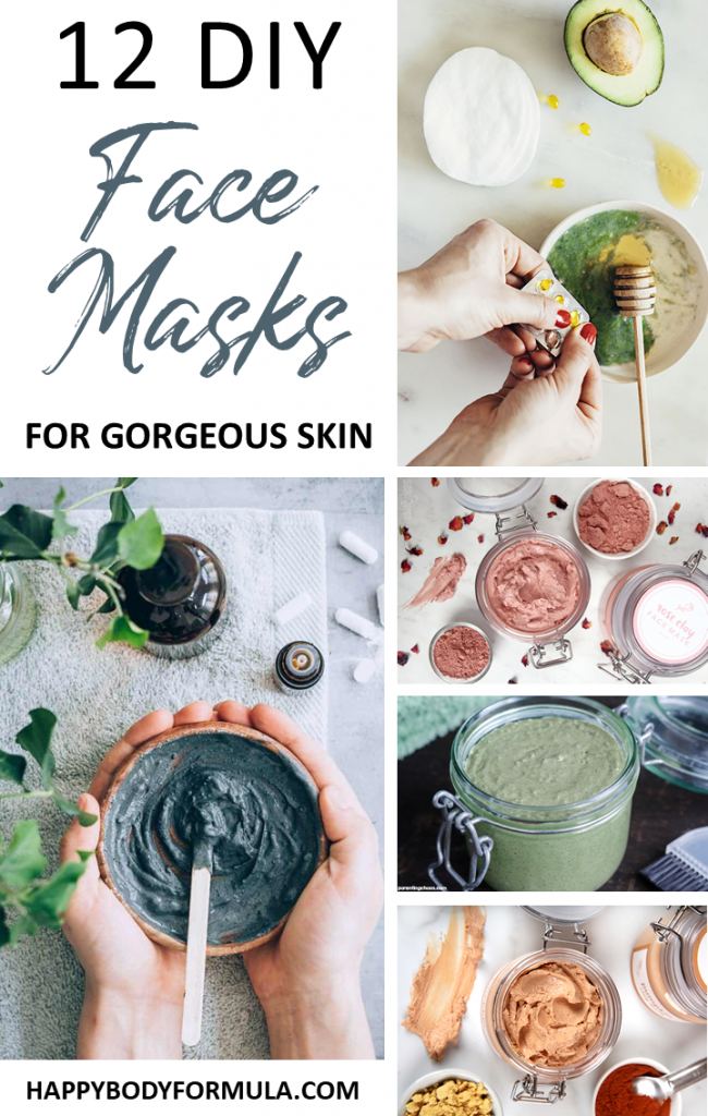12 DIY Face Masks for Gorgeous Skin | HappyBodyFormula.com