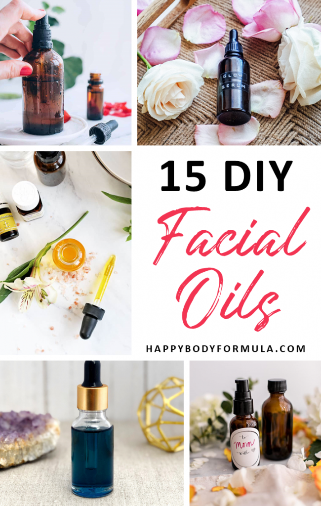 15 DIY Facial Oil Recipes for Every Skin Type | HappyBodyFormula.com
