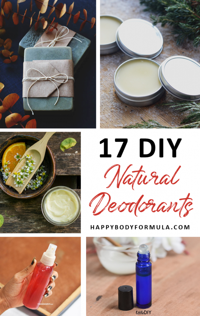 17 Homemade Deodorant Recipes Using All Natural Ingredients | HappyBodyFormula.com