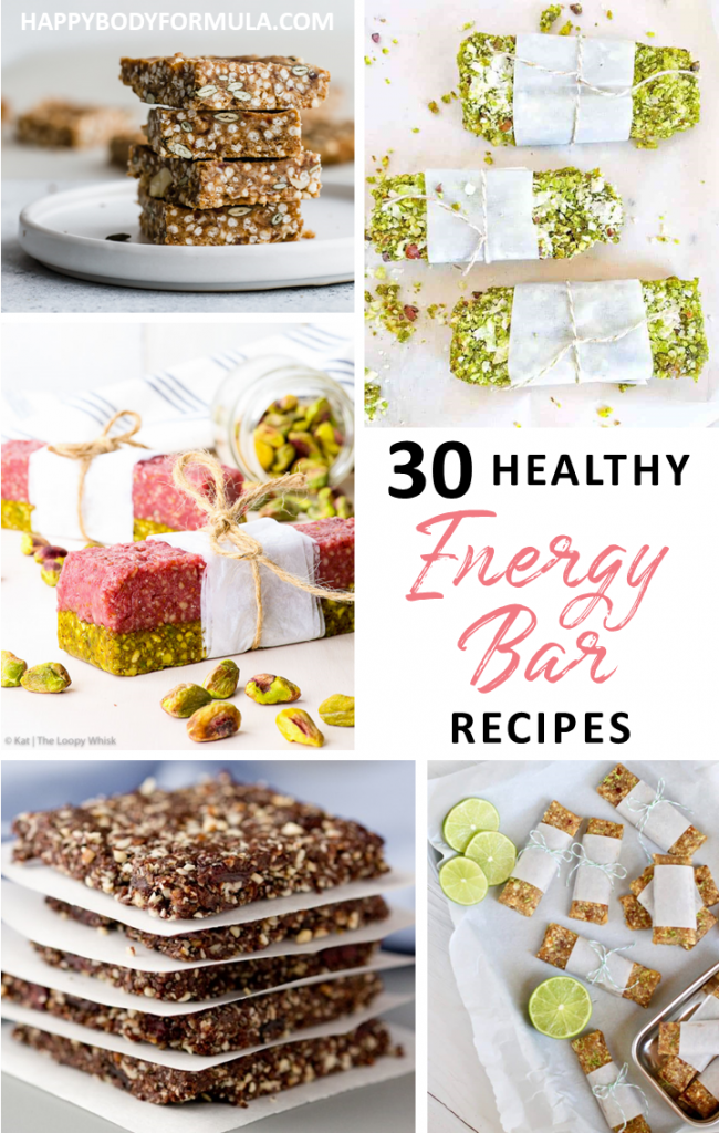 30 Healthy + Homemade Energy Bar Recipes | HappyBodyFormula.com
