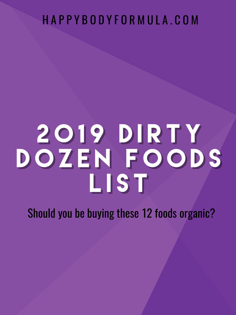 Dirty Dozen Foods List: Should You Be Buying These 12 Foods Organic? | HappyBodyFormula.com