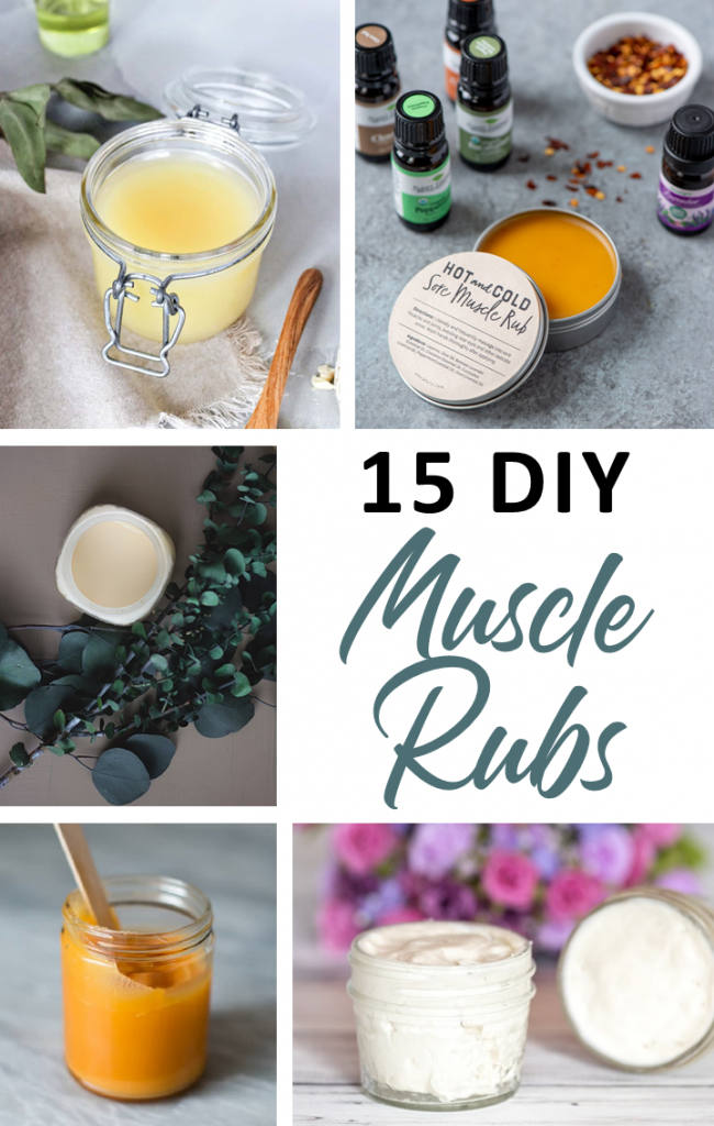 15 Homemade Muscle Rub Recipes for Sore Muscles | HappyBodyFormula.com