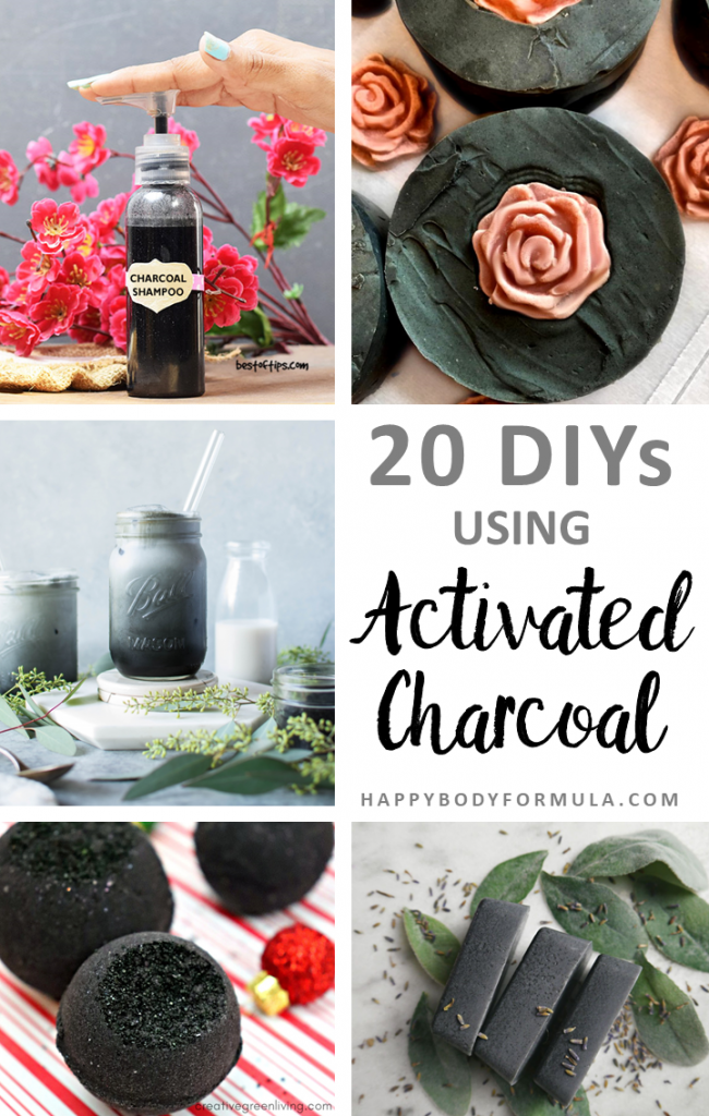 20 DIY Recipes Using Activated Charcoal | HappyBodyFormula.com