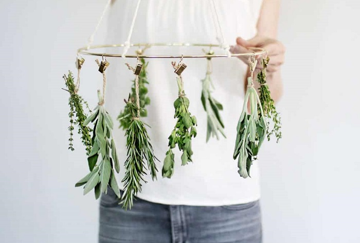 MAKE YOUR OWN HERB DRYING RACK