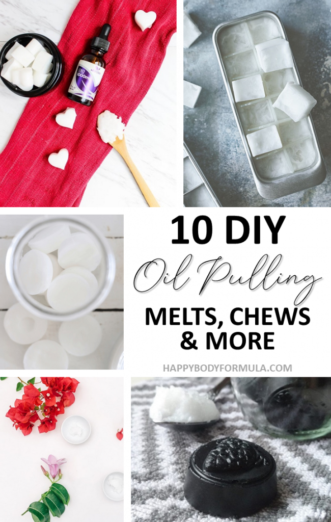 10 Oil Pulling Teeth Whitening Recipes for a Beautiful Smile | HappyBodyFormula.com