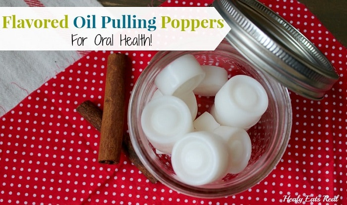 FLAVORED OIL PULLING POPPERS