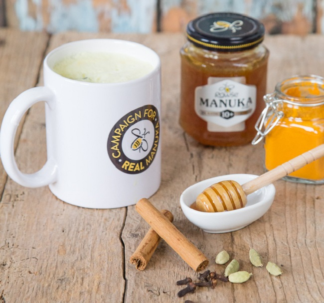 SPICED TURMERIC MILK WITH MANUKA HONEY