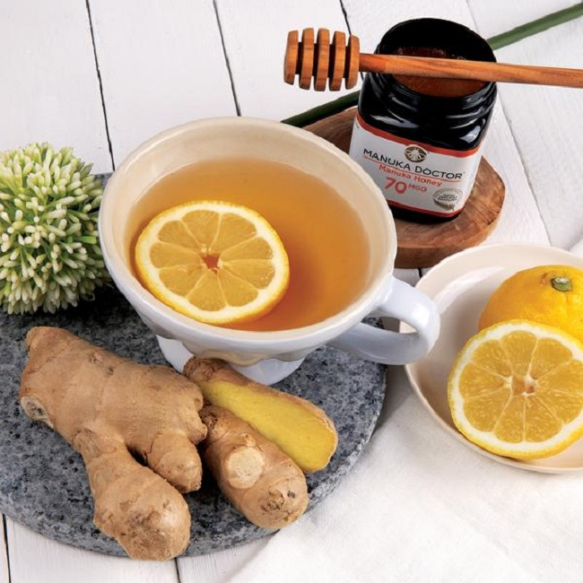MANUKA HONEY, LEMON AND GINGER TEA