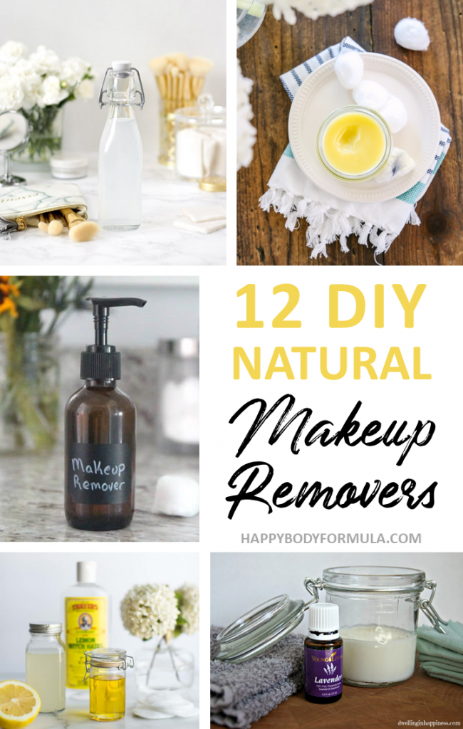 12 DIY Makeup Remover Recipes Made with All Natural Ingredients | Happybodyformula.com