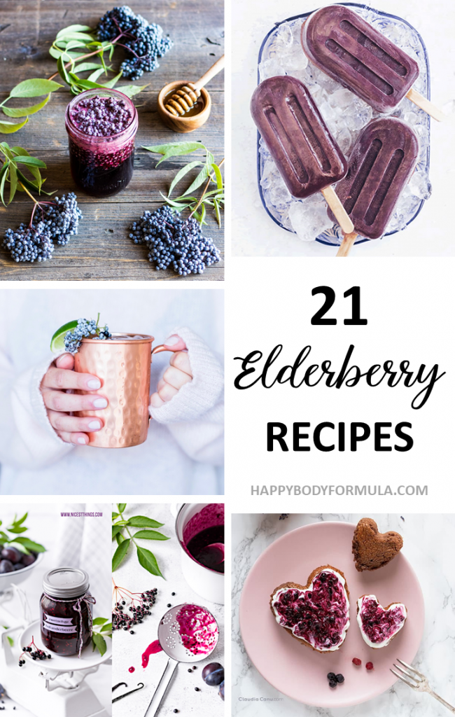 21 Easy + Nutritious Elderberry Recipe Ideas | Happybodyformula.com