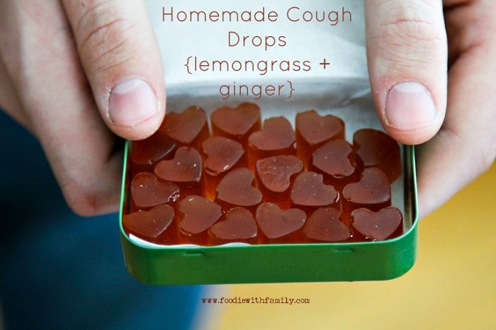 HOMEMADE LEMONGRASS AND GINGER COUGH DROPS