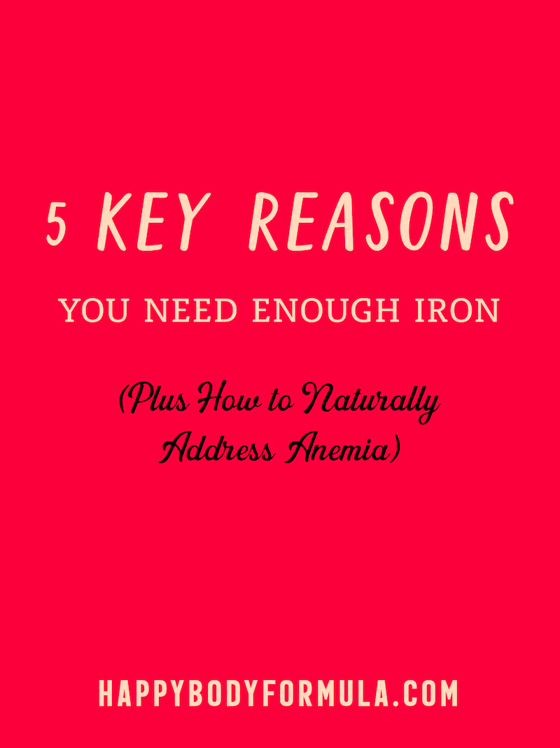 5 Key Reasons You Need Enough Iron | HappyBodyFormula.com